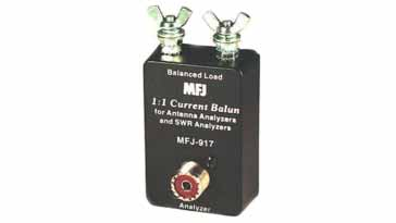 Typical HF ham radio antenna balun for adapting a balanced line to unbalanced for measurement applications