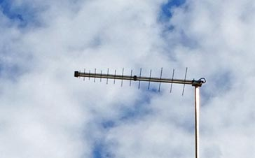 A log periodic antenna used for television reception