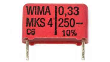 Polyester film capacitor type
