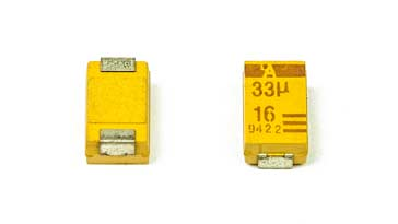 SMD tantalum capacitor  top and bottom views