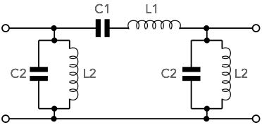 An example of a typical LC bandpass filter