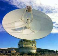 The Goldstone parabolic reflector antenna is an excellent example of a large parabolic reflector antenna.