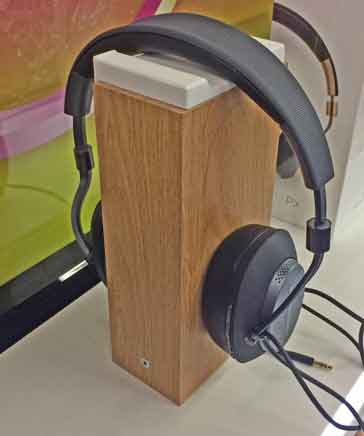 Headphone on a stand in a shop - over-ear variety