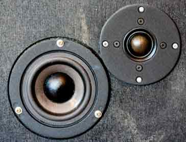 Mid and top range speakers (squawker & tweeter) from a loudspeaker system