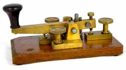 A typical British Post Office Morse key - often this type of key was called a straight key.