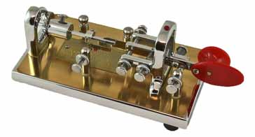 A modern presentation Vibroplex semi-automatic mechanical bug key style of Morse key often used for radio communications applications.