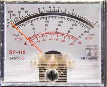 Analogue multimeter scale / face