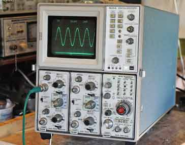 Example of an analogue storage oscilloscope