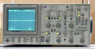 tektronix 2245 analogue oscilloscope or cathode ray oscilloscope