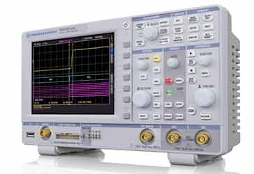 A typical oscilloscope as used in an electronics laboratory