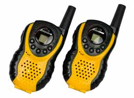 Low cost two way radios or walkie talkies like these PMR446 radios often use narrowband FM