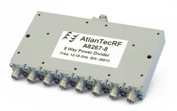 Typical microwave connectorised 8-way splitter / combiner