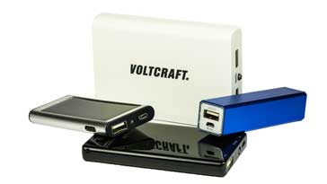 Selection of various types of power bank