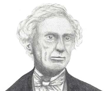 A drawing of Samuel Finley Breese Morse