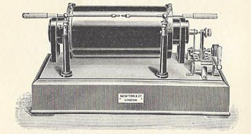 A 10 inch spark induction coil.