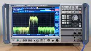 Typical spectrum analyzer showing RF signal spectrum