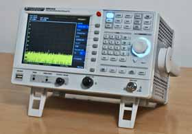 Typical RF spectrum analyzer