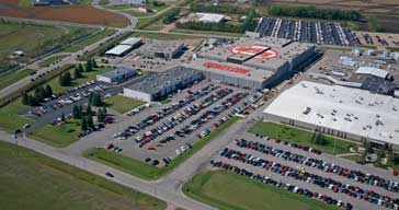 Aerial view of the Digi-Key facility in Thief River Falls Minn. USA