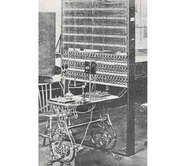 A switchboard from 1882 using jack connectors