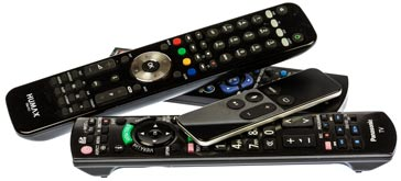 Collection of TV remote controls