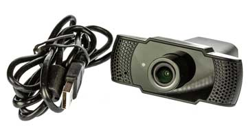 Webcam with its associated USB lead